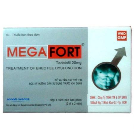 Thuốc tăng cường sinh lực nam Megafort hàng hiệu